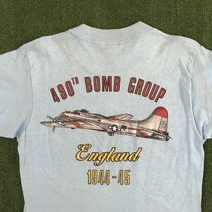 Vintage 1980s 490th Bombardment group t shirt